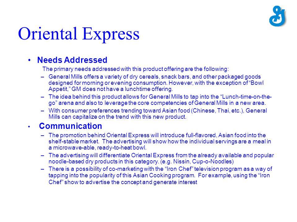 Oriental Express Needs Addressed Communication