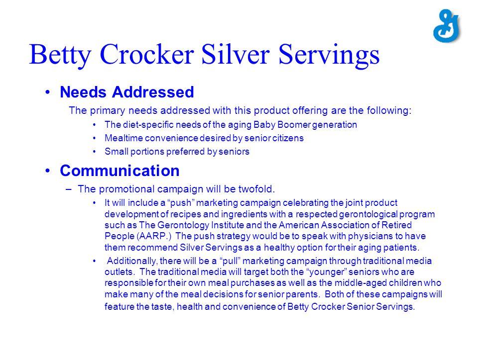 Betty Crocker Silver Servings
