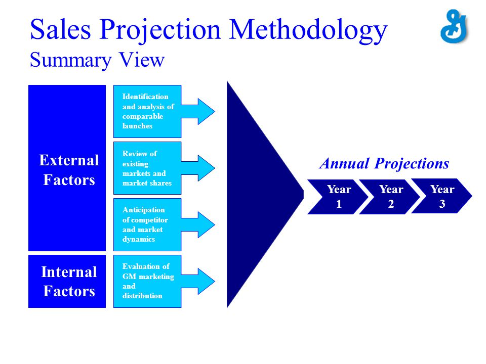 Sales Projection Methodology Summary View