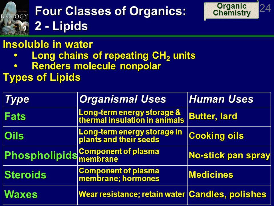 Four Classes of Organics: 2 - Lipids