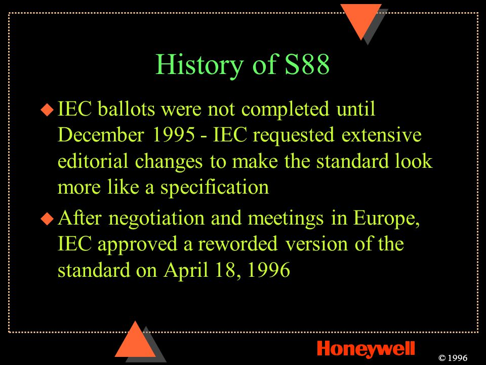 History of S88