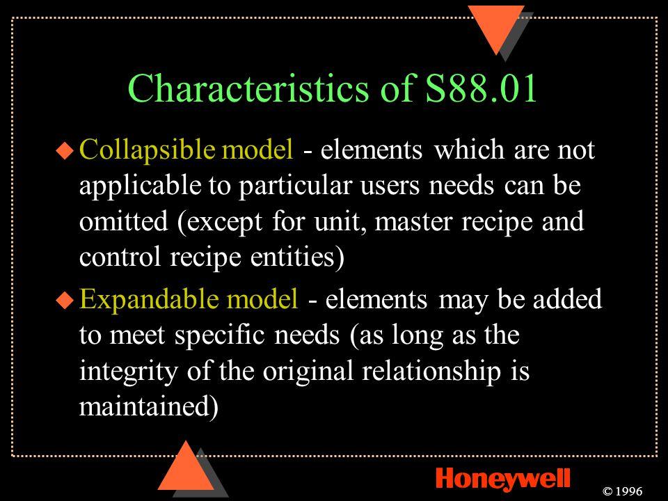 Characteristics of S88.01