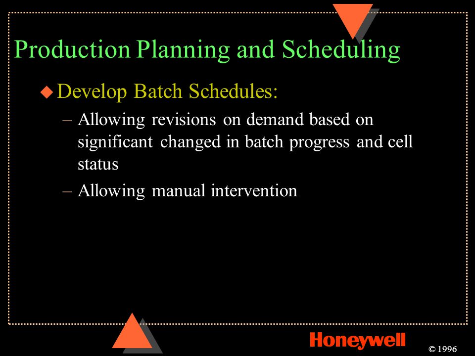 Production Planning and Scheduling