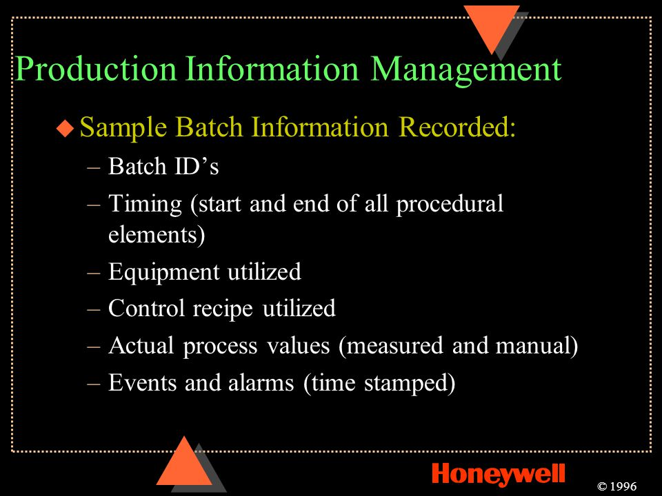 Production Information Management