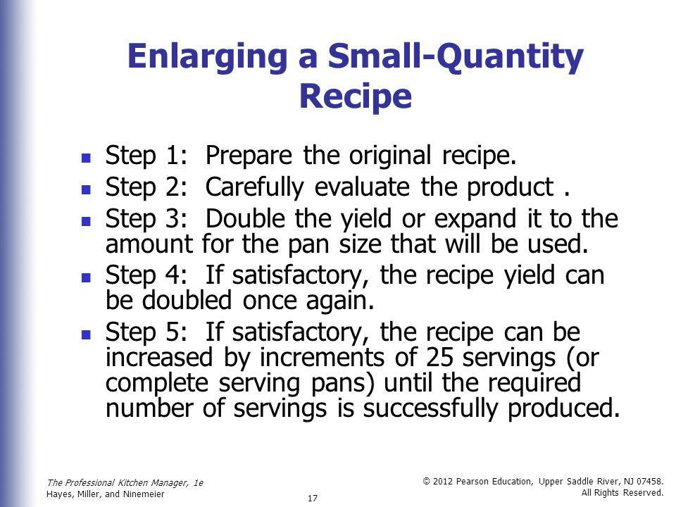 Enlarging a Small-Quantity Recipe