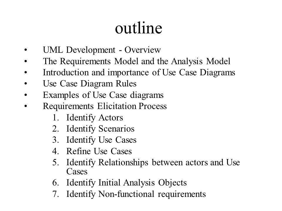 outline UML Development - Overview