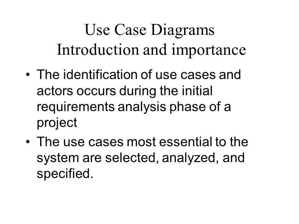 Use Case Diagrams Introduction and importance