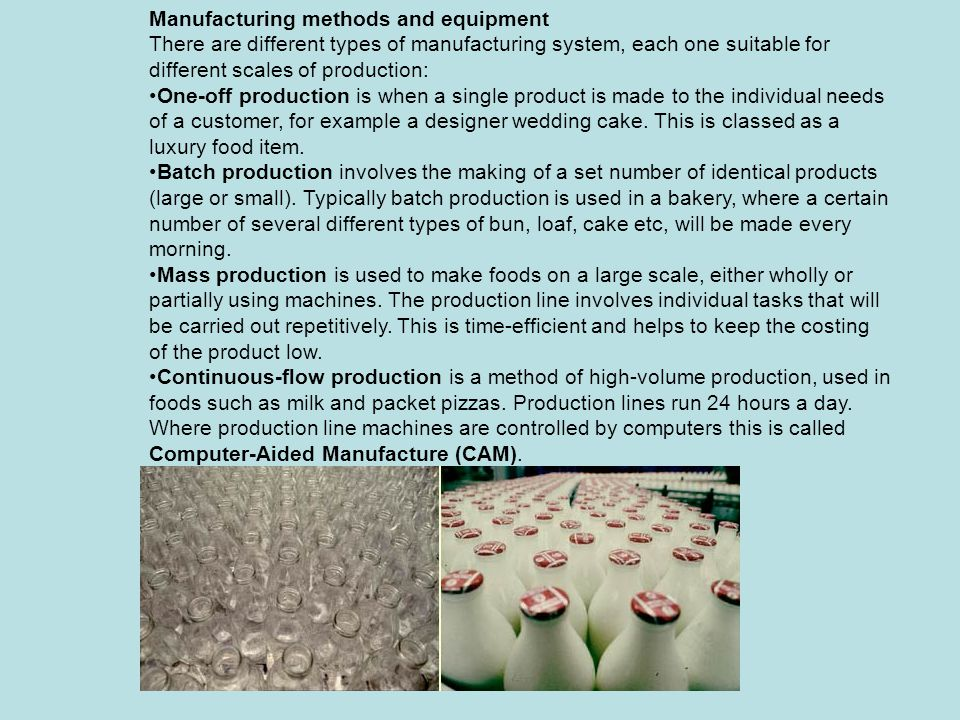 A mass production line in a milk-bottling plant