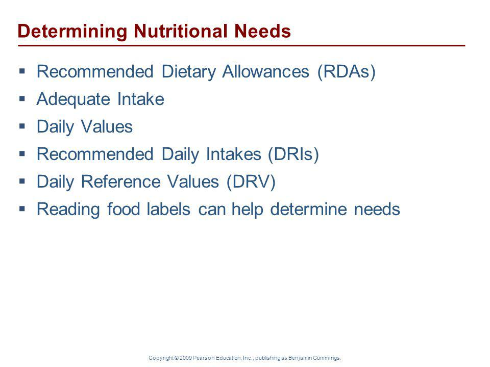 Determining Nutritional Needs