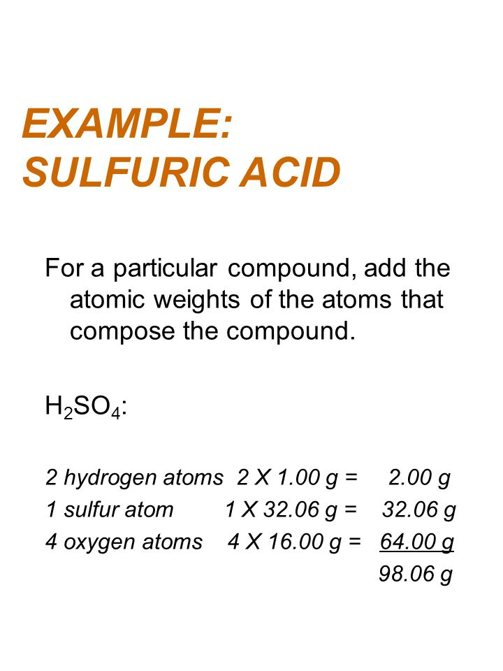 EXAMPLE: SULFURIC ACID