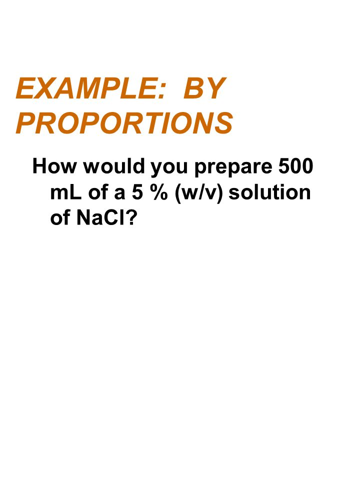 EXAMPLE: BY PROPORTIONS
