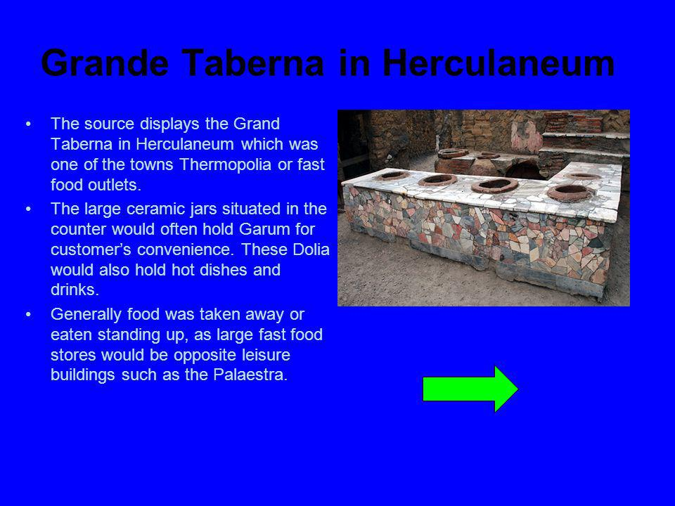 Grande Taberna in Herculaneum