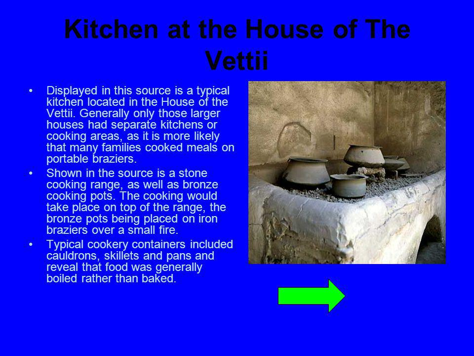 Kitchen at the House of The Vettii