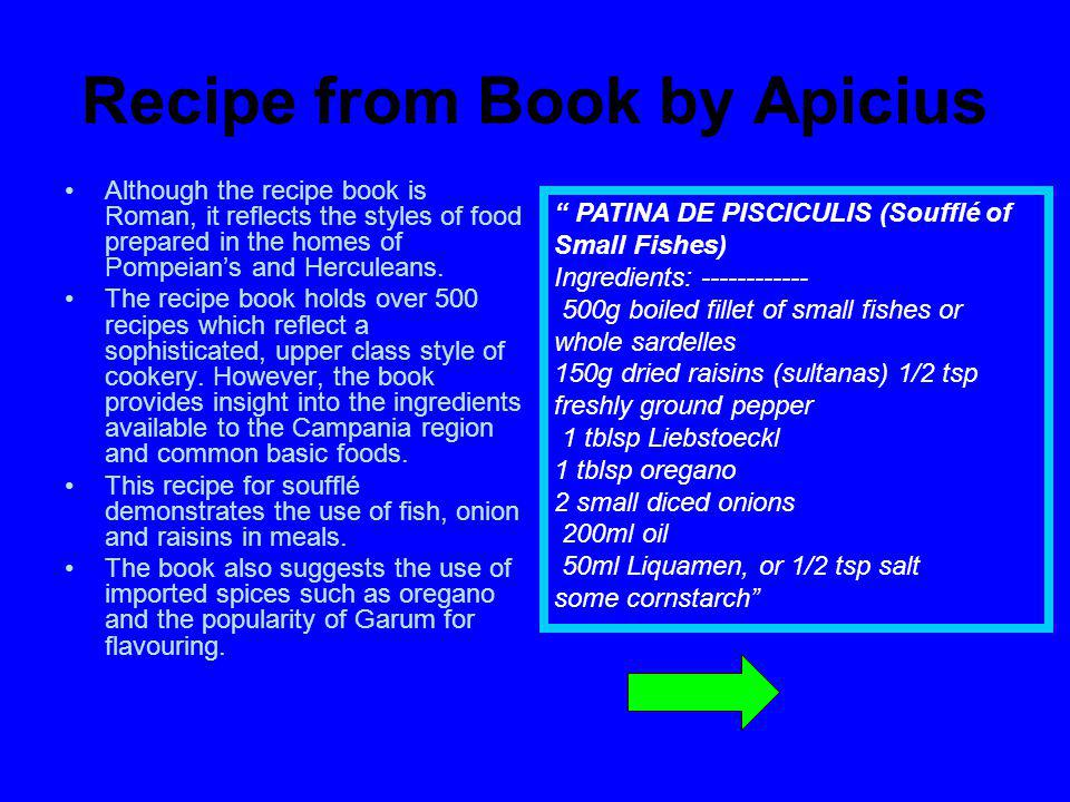 Recipe from Book by Apicius
