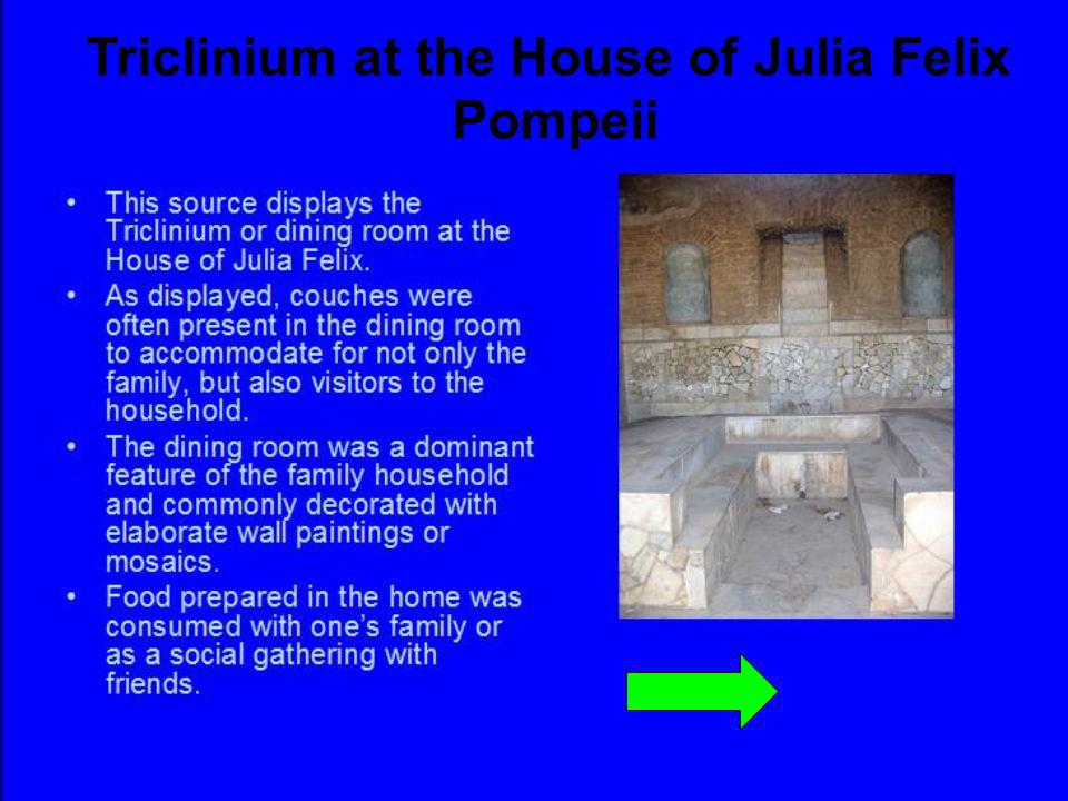 Triclinium at the House of Julia Felix