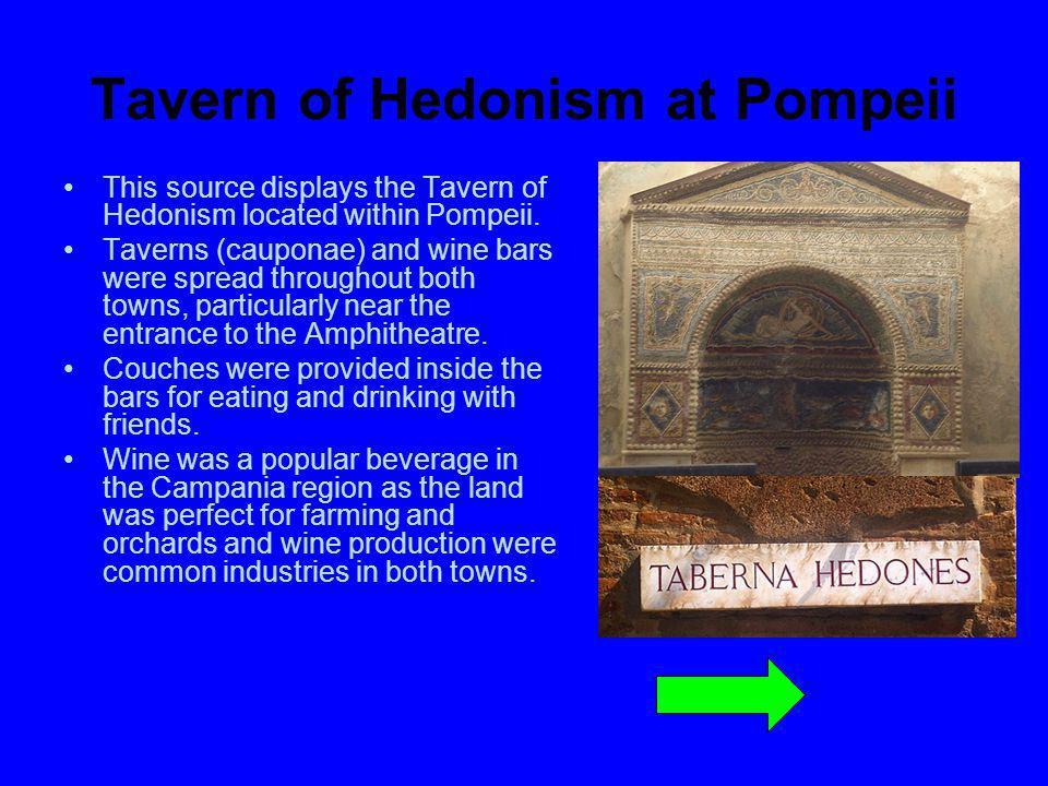 Tavern of Hedonism at Pompeii