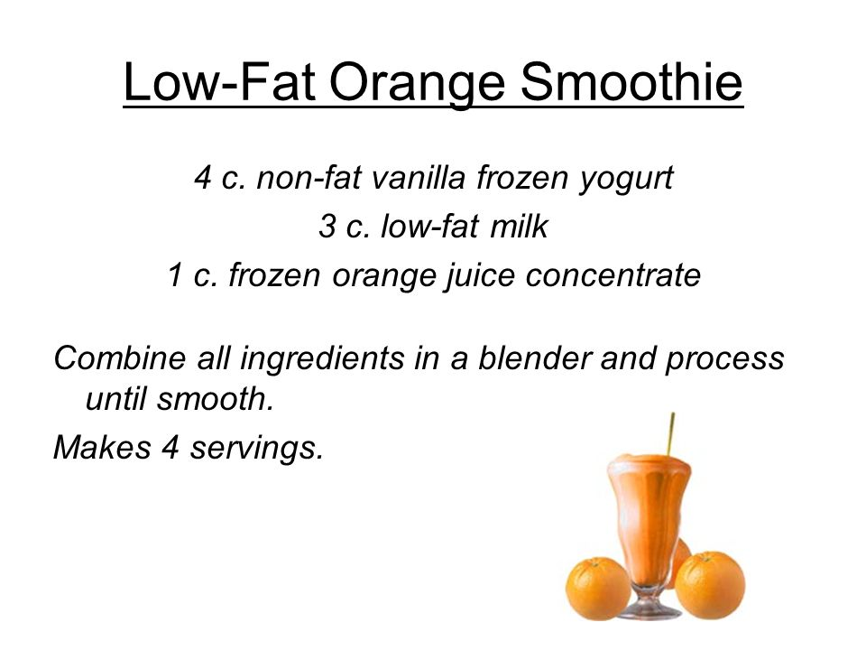 Low-Fat Orange Smoothie