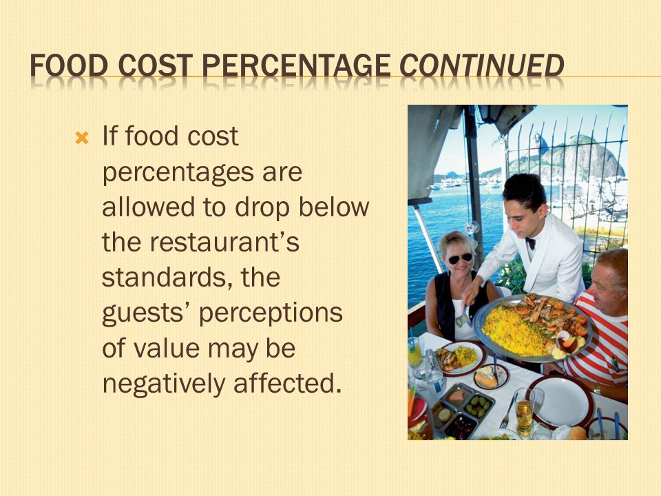 Food Cost Percentage continued