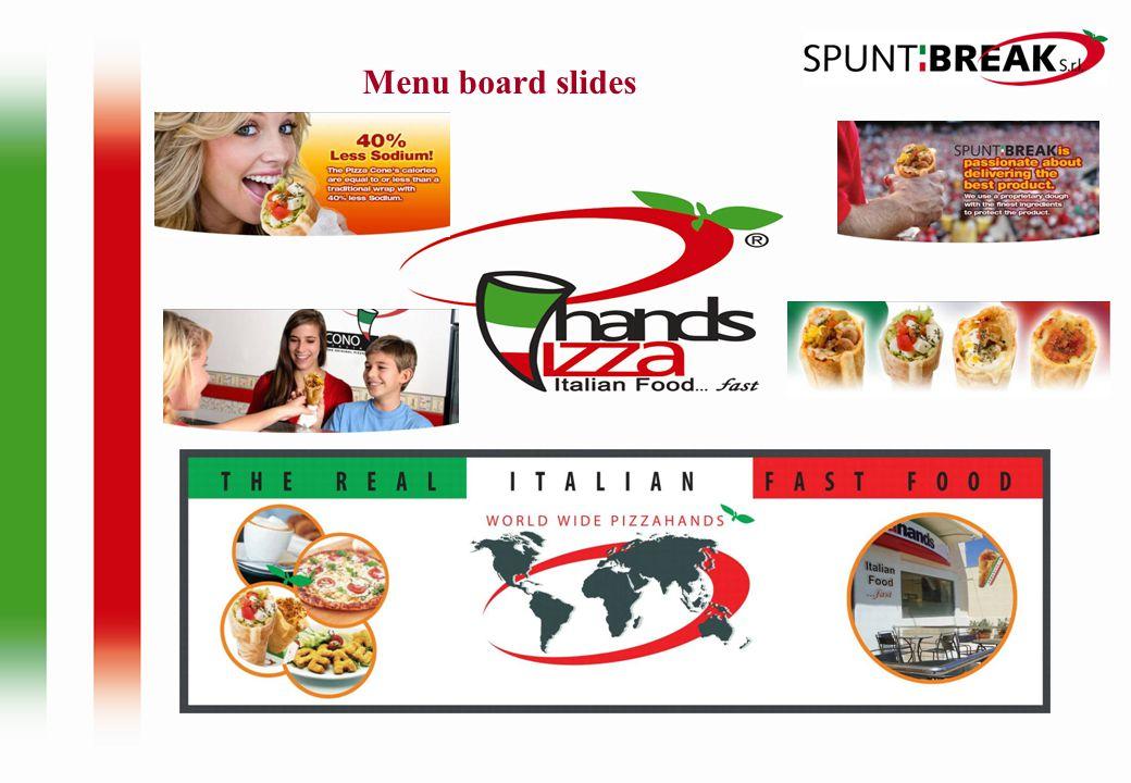 Menu board slides
