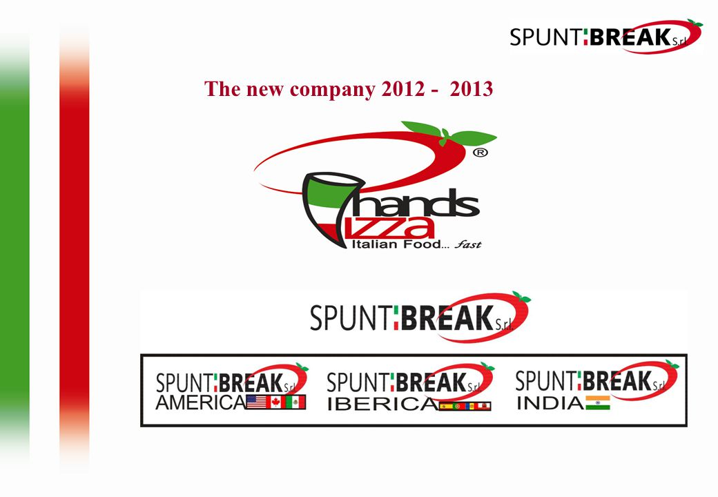 The new company 2012 - 2013
