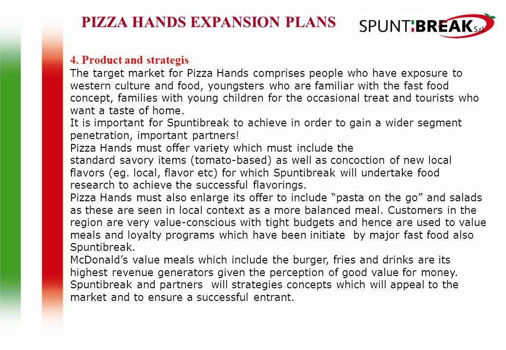 PIZZA HANDS EXPANSION PLANS