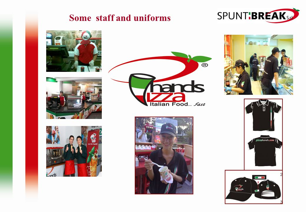 Some staff and uniforms