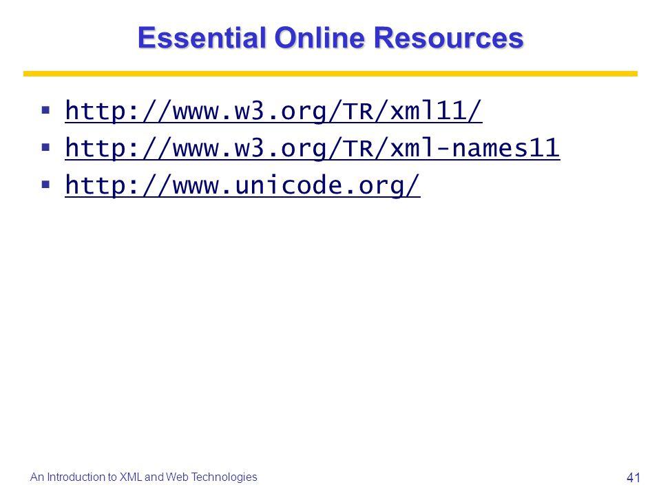 Essential Online Resources