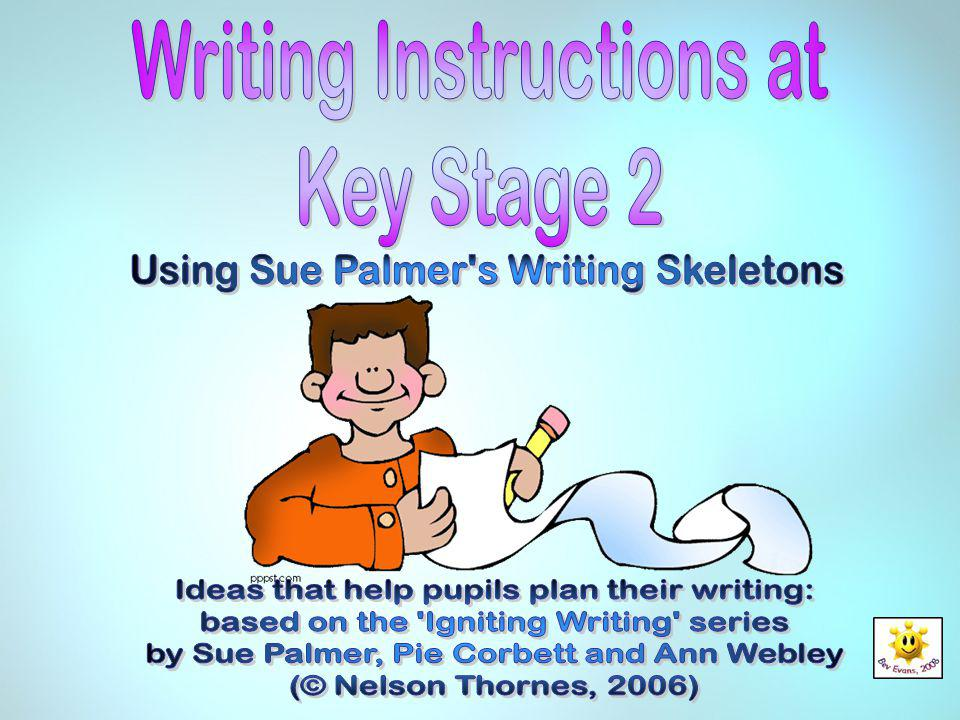 Writing Instructions at Key Stage 2