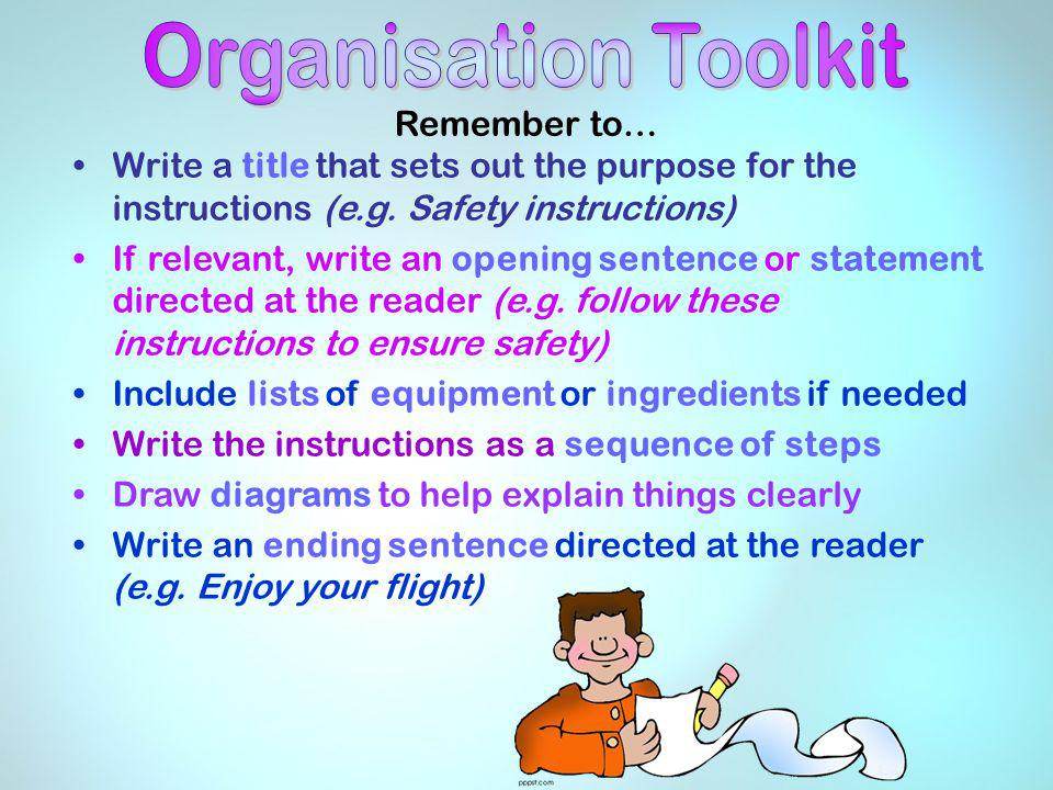 Organisation Toolkit Remember to…