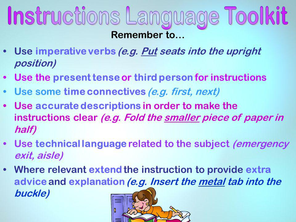 Instructions Language Toolkit