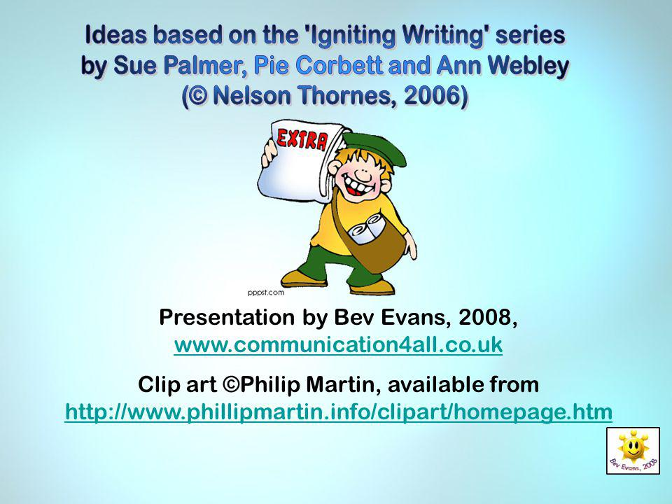 Ideas based on the Igniting Writing series
