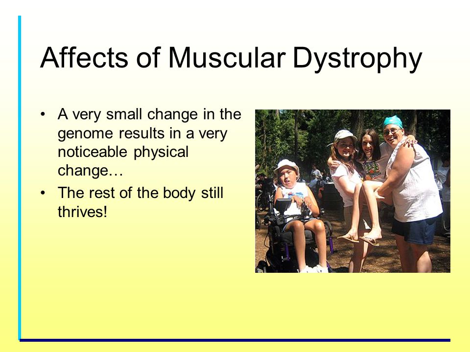 Affects of Muscular Dystrophy