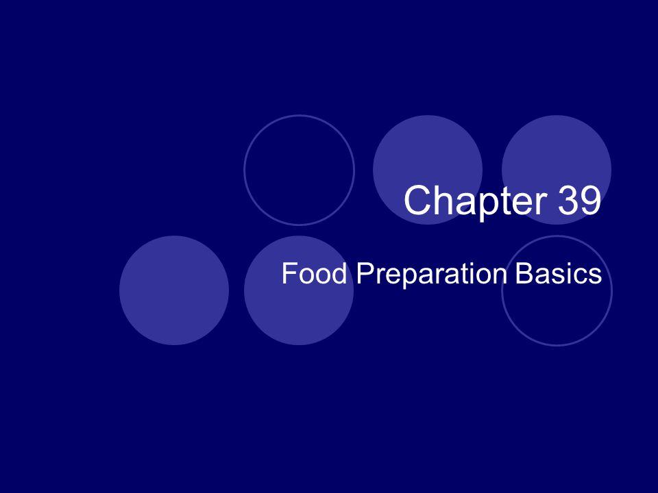 Food Preparation Basics
