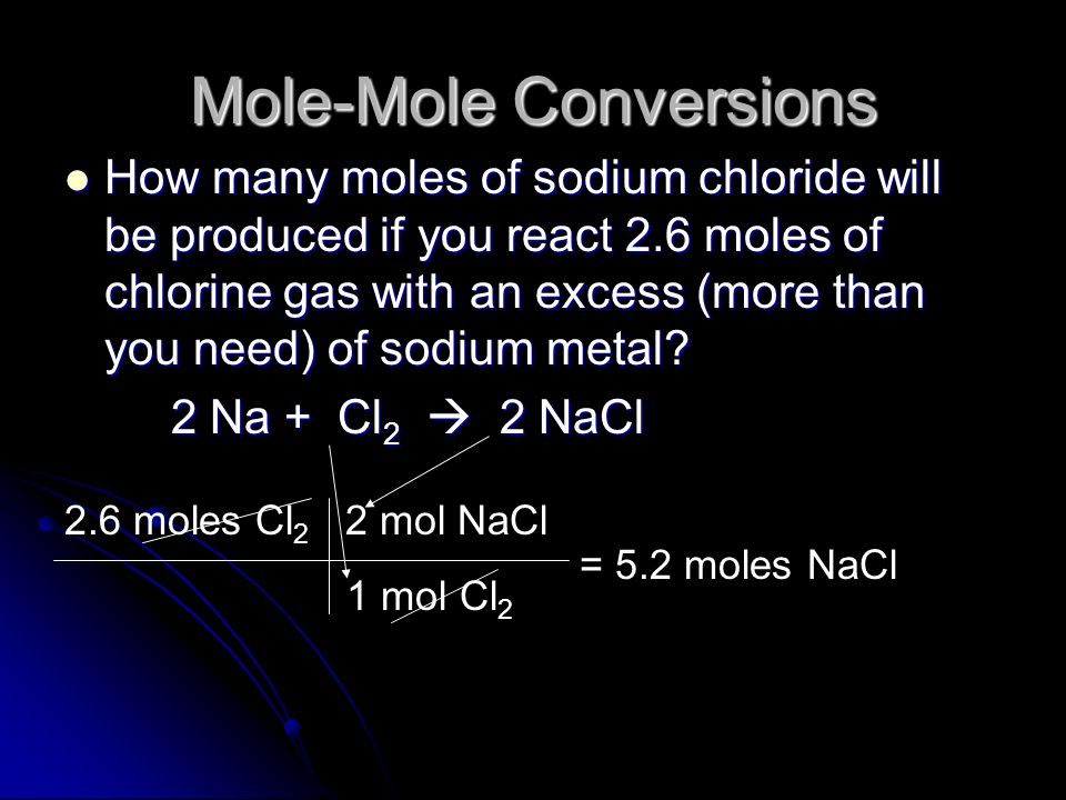 Mole-Mole Conversions