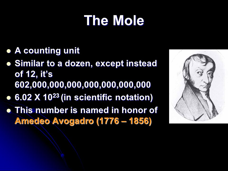 The Mole A counting unit