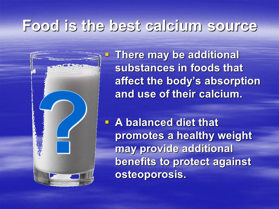 Food is the best calcium source
