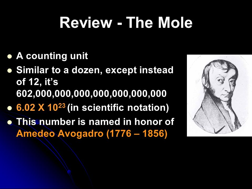 Review - The Mole A counting unit
