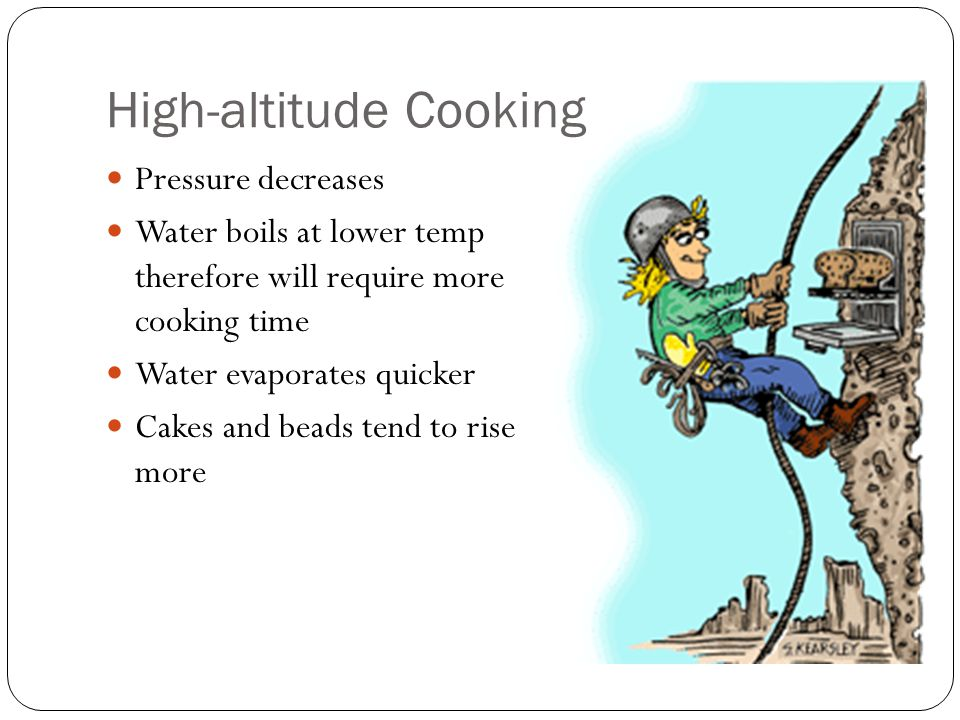 High-altitude Cooking