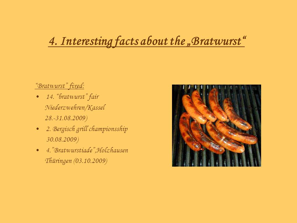 "4. Interesting facts about the ""Bratwurst"