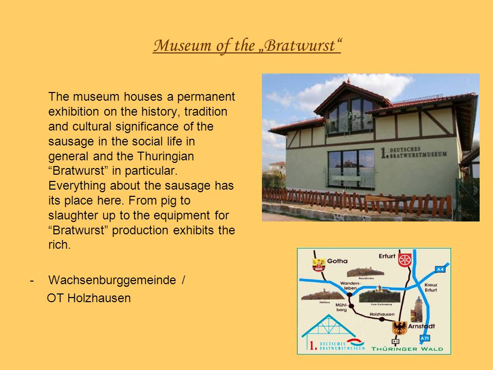 "Museum of the ""Bratwurst"
