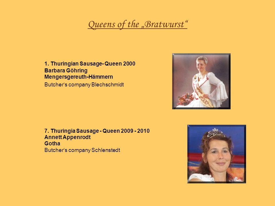 "Queens of the ""Bratwurst"