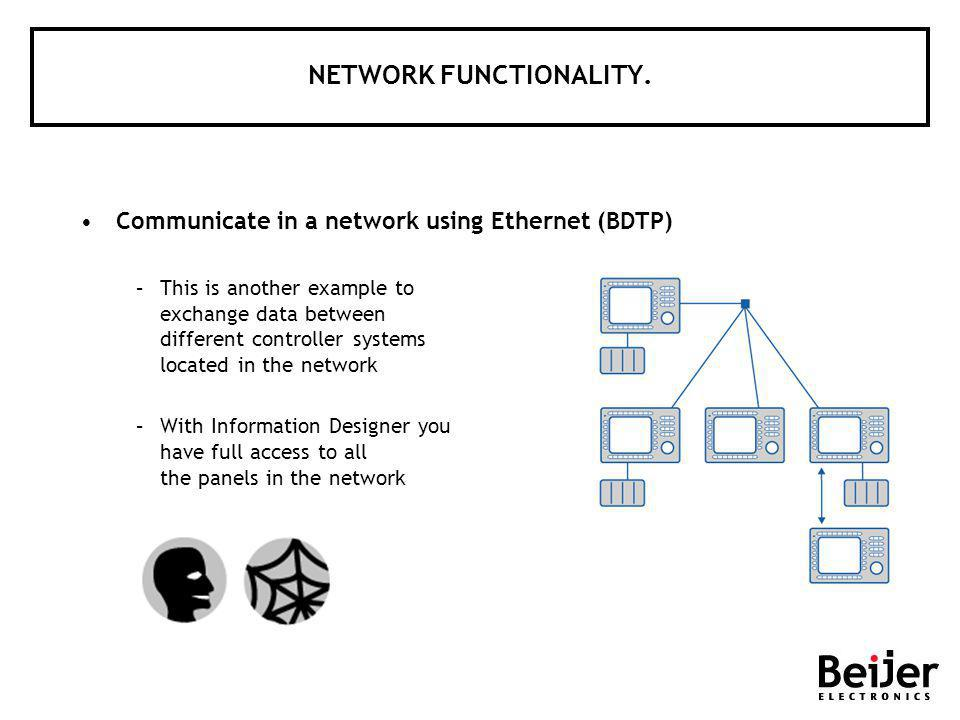 NETWORK FUNCTIONALITY.
