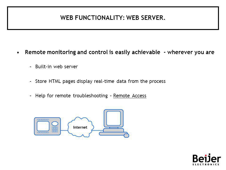 WEB FUNCTIONALITY: WEB SERVER.