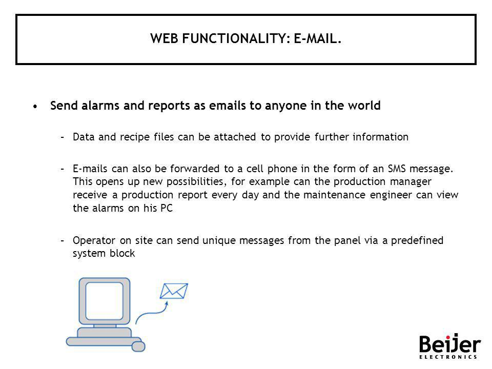 WEB FUNCTIONALITY: E-MAIL.