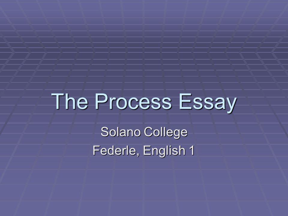 Solano College Federle, English 1