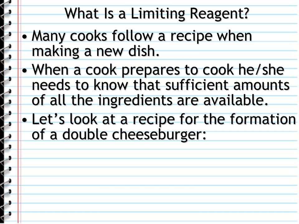 What Is a Limiting Reagent