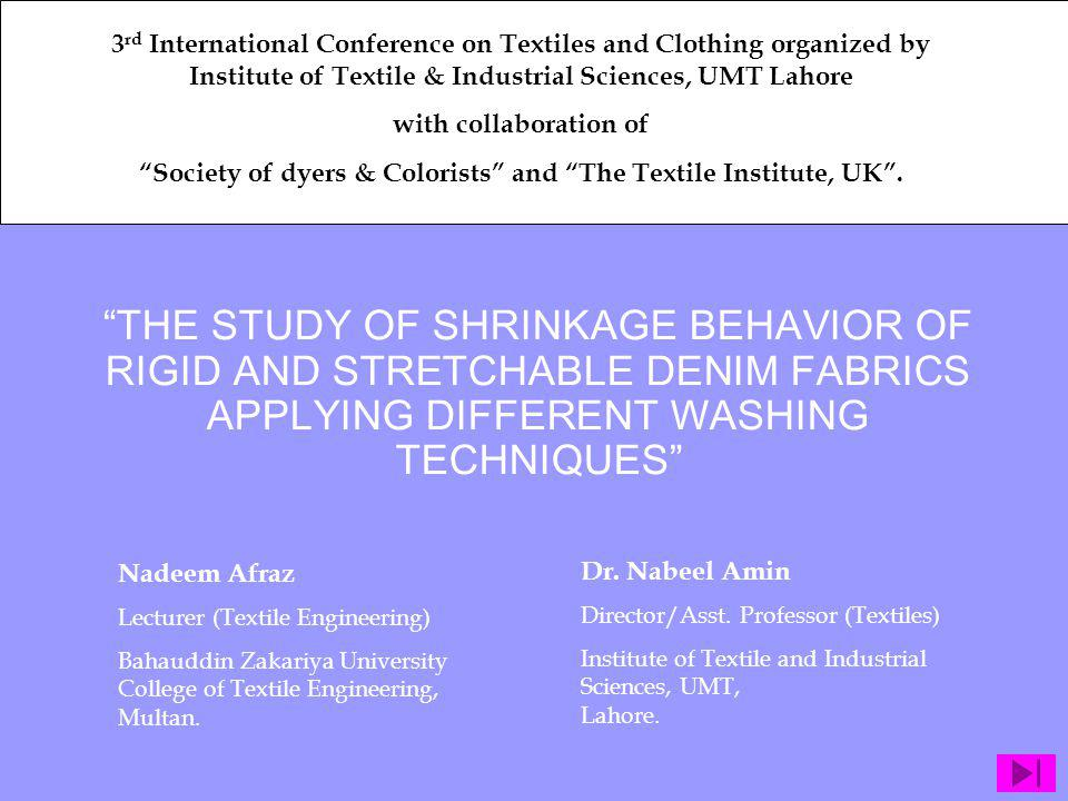 Society of dyers & Colorists and The Textile Institute, UK .