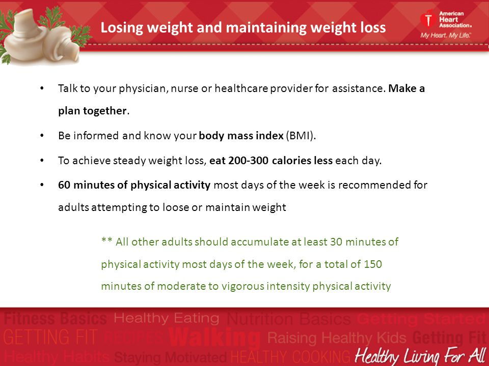 Losing weight and maintaining weight loss