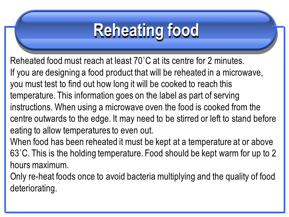 Temperature control in food production