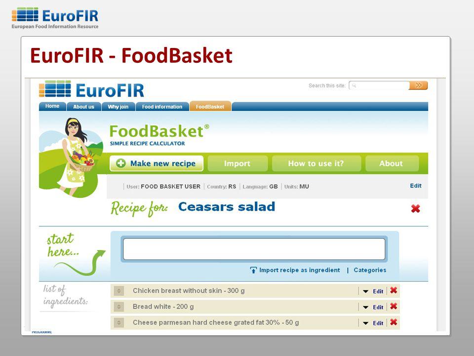EuroFIR - FoodBasket